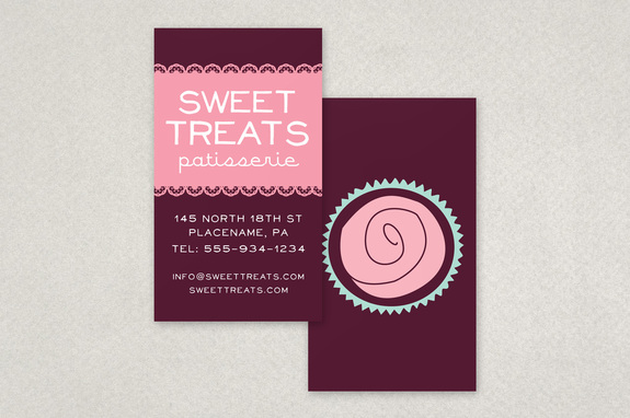 Cupcake bakery business card template inkd cupcake bakery business card template cheaphphosting Image collections