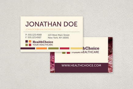 Healthcare Business Card Template | Inkd