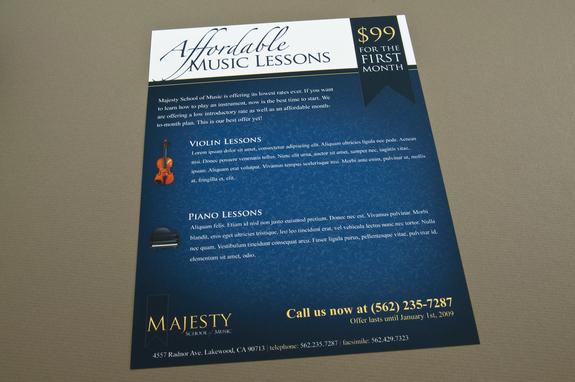 Music School Flyer Template Inkd