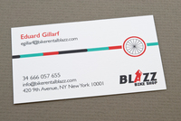 Bike Rental Business Card White Front Template