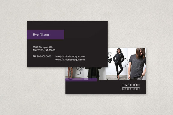 Fashion Boutique Business Card Template Inkd