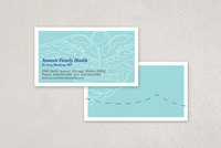 Blue Family Health Business Card Template