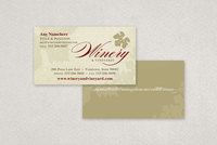 Rustic Winery Business Card Template