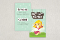 Graphic Daycare Business Card Template