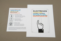 Electrician Postcard with Switch Plate Template