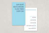 Blue Medical Center Business Card Template