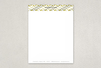 Bold Chevron Patterned Letterhead Template