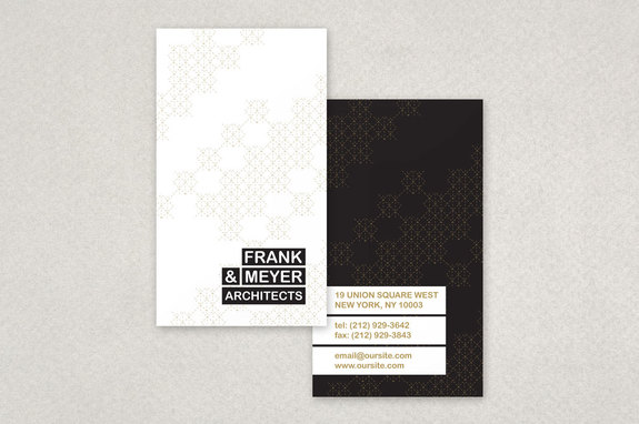 black and gold architecture business card template - Architect Business Card