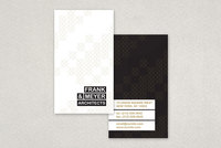 Black and Gold Architecture Business Card Template
