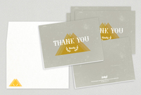 Textured Thank You Card Template