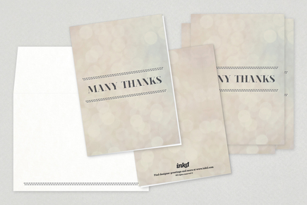 Classy Thank You Card Template