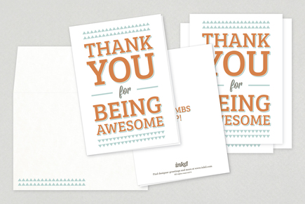 Awesome Thank You Card Template