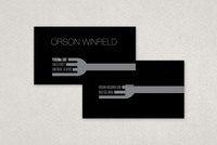 Sleek Personal Chef Business Card Template