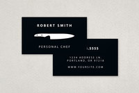 Personal Chef Service Business Card Template