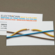 Electrician Business Card with Cut Wire Template