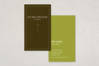 Minimalist Community Church Business Card Template
