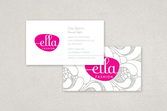 Ella fashion business card template inkd ella fashion business card template cheaphphosting Images
