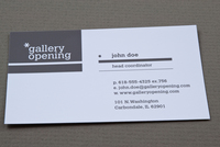Contemporary Gallery Business Card Template