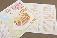 Illustrative Pancake House Menu Template
