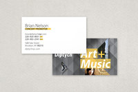 Art & Music Series Business Card Template