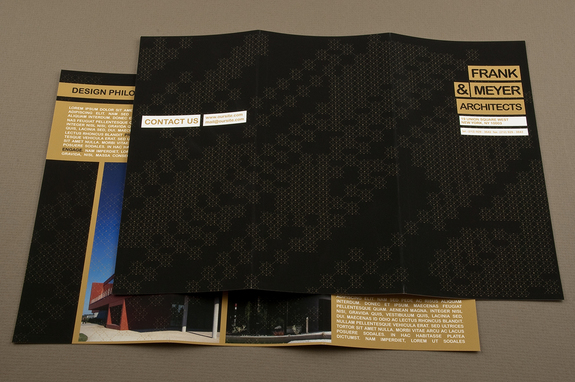 black and gold architecture brochure template