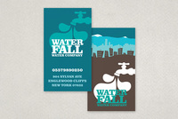 Graphic Water Company Business Card Template