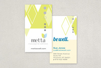 Wellness Diamond Business Card  Template
