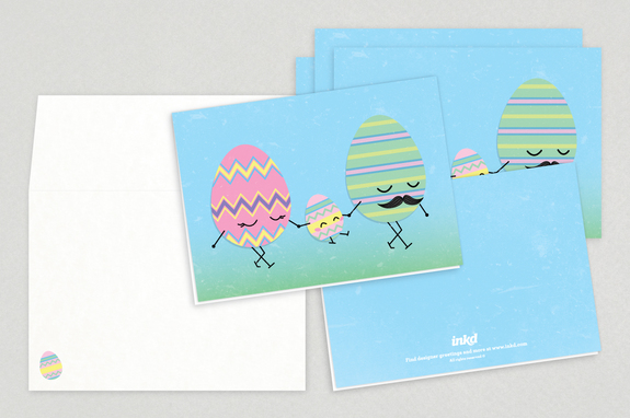 Happy Eggs Easter Greeting Cards