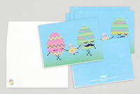 Happy Eggs Easter Greeting Card Template