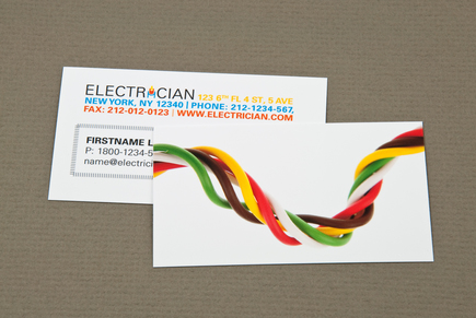 Electrician Business Card With Twisted Wires Template Medium Fb6ae0e0ef00012b00080016cbab2572