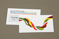 Electrician Business Card with Twisted Wires Template