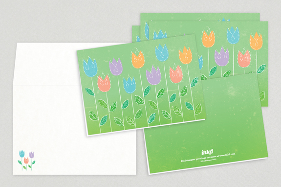 Spring Flowers Easter Greeting Cards