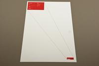 Red Minimalist Architecture Letterhead Template