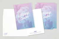 Easter Bouquet Greeting Card Template