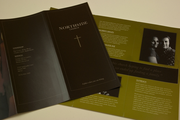 Minimalist Community Church Brochure Template Inkd - Church brochure templates