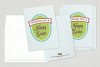 Easter Banner Greeting Card Template