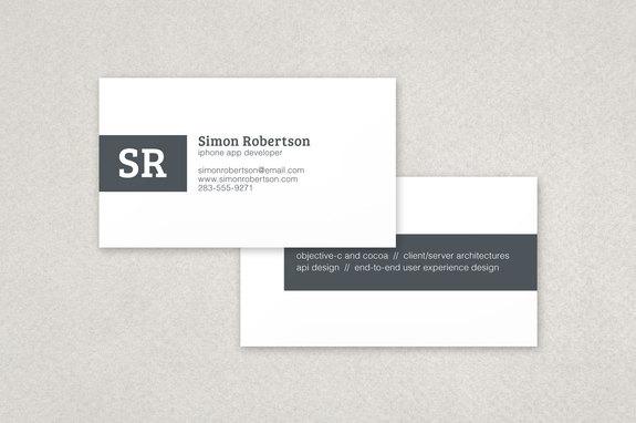 minimalist stripe business card template inkd