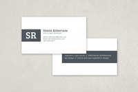 Minimalist Stripe Business Card Template