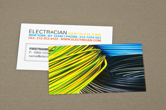 Electrician business card with coiled wires template inkd electrician business card with coiled wires template reheart Choice Image