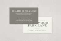 Luxury Service Business Card Template