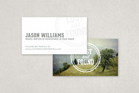 Travel Blogger Business Card Template