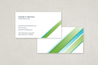 Universal Striped Business Card Template