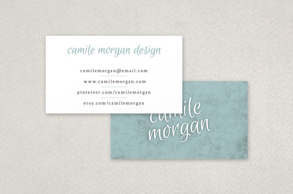 Stylish Craft Business Card Template