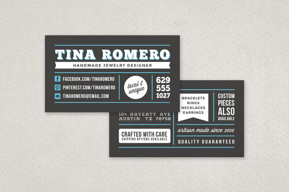 Bold Retro Business Card Template