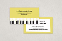Piano Instructor Business Card Template