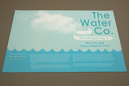 illustrative water utilities flyer template inkd