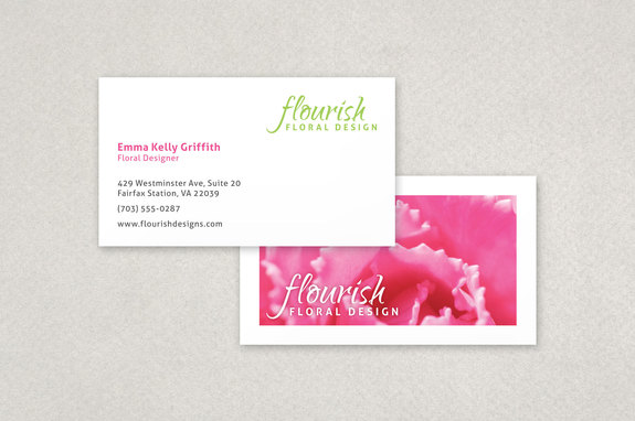Bright florist business card template inkd bright florist business card template cheaphphosting Gallery