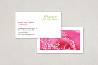 Bright Florist Business Card Template