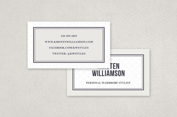 personal stylist business card template - Stylist Business Cards