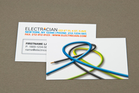 Electrician Business Card with Looped Wires Template